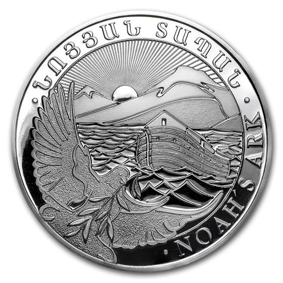 2017 Armenia 5 oz Silver 1000 Drams Noah's Ark