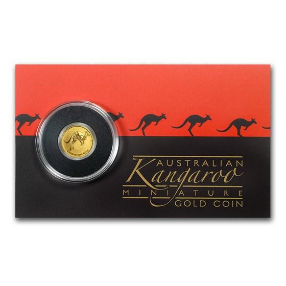 2017 Australia 1/2 Gram Gold Kangaroo Mini Roo BU (Assay Card)