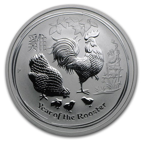 2017 Australia 1/2 oz Silver Year of the Rooster BU (Series II)
