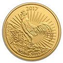 2017 Australia 1/20 oz Gold Lunar Year of the Rooster BU (RAM)