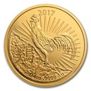2017 Australia 1/4 oz Gold Lunar Year of the Rooster BU (RAM)