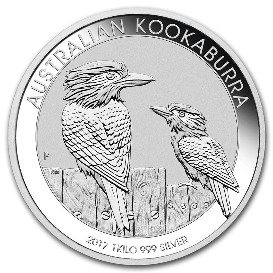 2017 Australia 1 kilo Silver Kookaburra BU