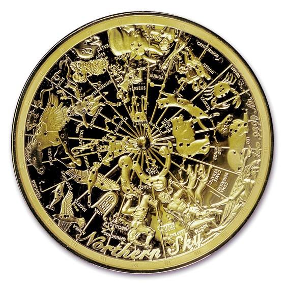 2017 Australia 1 oz $100 Gold Northern Sky Domed Proof