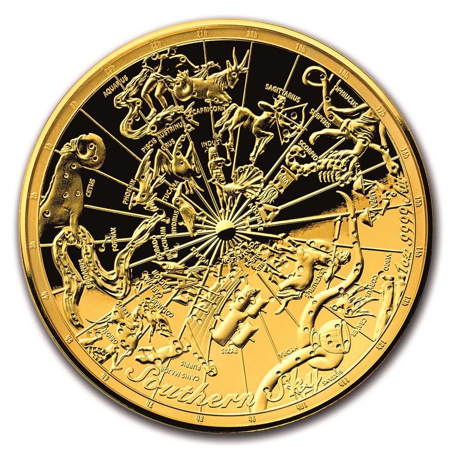 2017 Australia 1 oz $100 Gold Southern Sky Domed Proof