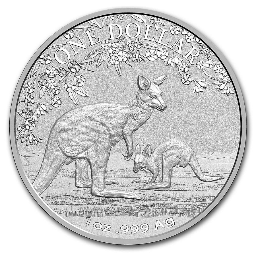 2017 Australia 1 oz Silver Kangaroo (Display Card)