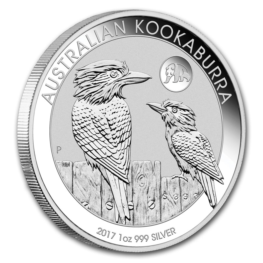 2017 Australia 1 oz Silver Kookaburra BU (Panda Privy)