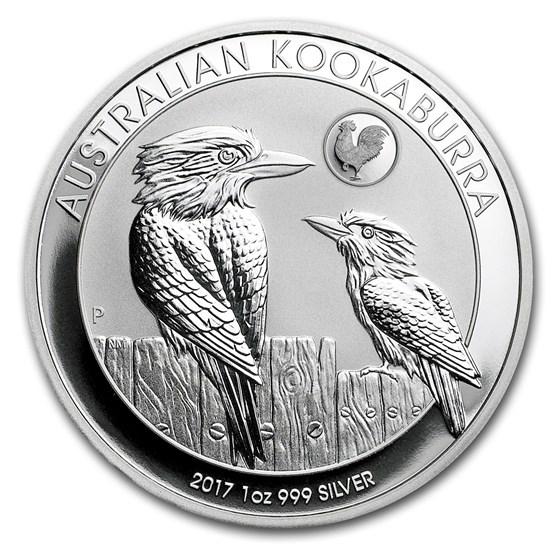 2017 Australia 1 oz Silver Kookaburra BU (Rooster Privy)