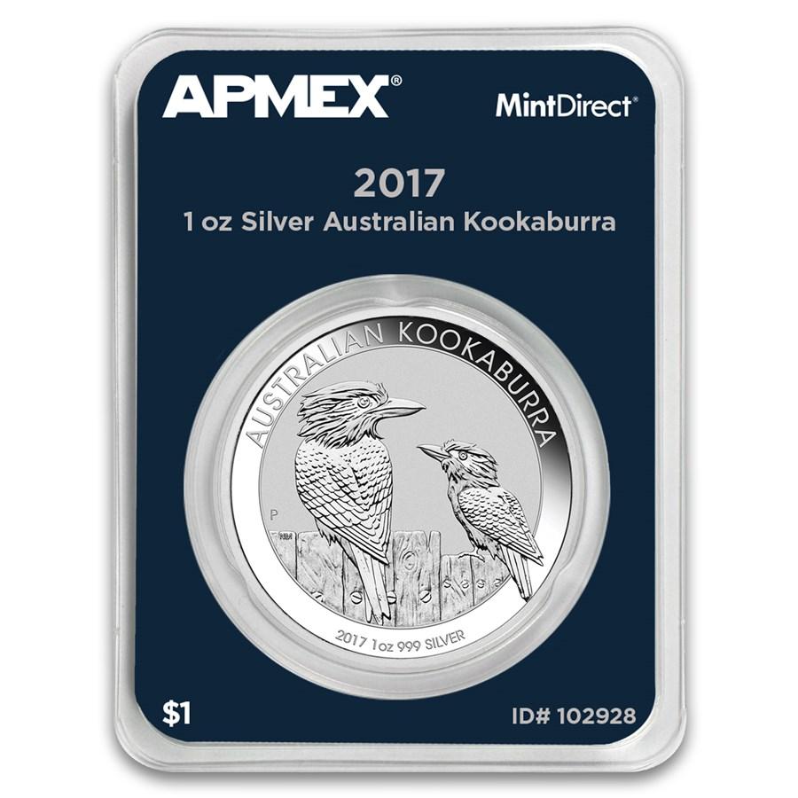 2017 Australia 1 oz Silver Kookaburra (MintDirect® Single)