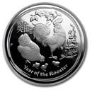 2017 Australia 1 oz Silver Lunar Rooster Proof (w/Box & COA)