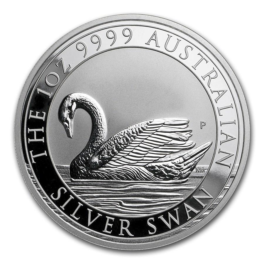 2017 Australia 1 oz Silver Swan BU