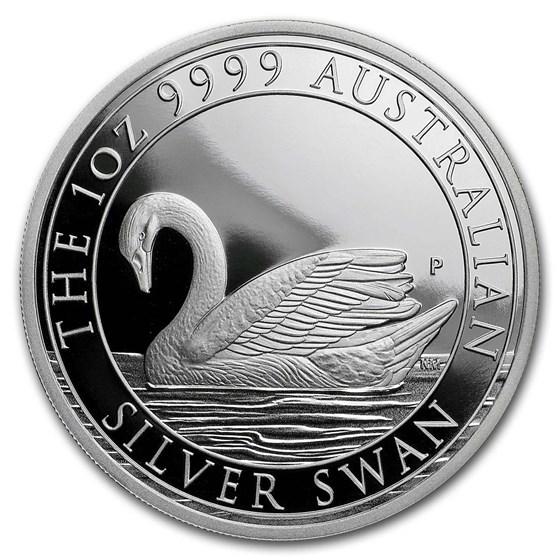 2017 Australia 1 oz Silver Swan Proof (w/Box & COA)