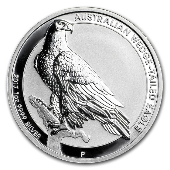 2017 Australia 1 oz Wedge Tailed Eagle Silver BU