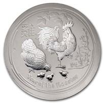2017 Australia 10 kilo Silver Lunar Rooster BU