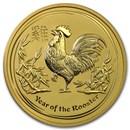 2017 Australia 2 oz Gold Lunar Rooster BU