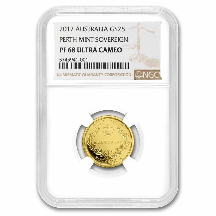 2017 Australia Gold Sovereign PF-68 NGC