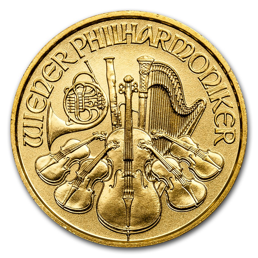 2017 Austria 1/10 oz Gold Philharmonic BU