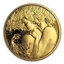2017 Austria Gold Prf €50 School of Psychotherapy (Sigmund Freud)