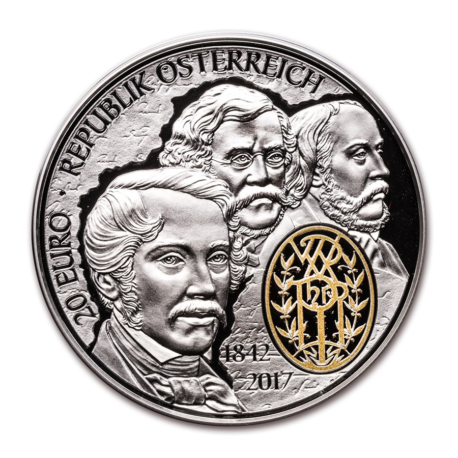 2017 Austria Prf Silver €20 175th Ann of Philharmonic Orchestra