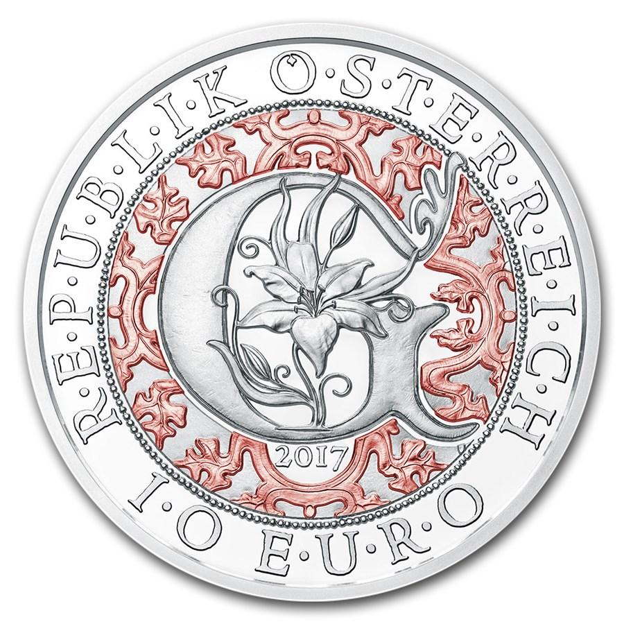 2017 Austria Proof Silver €10 Guardian Angels (Gabriel)