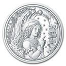 2017 Austria Silver €10 Guardian Angels BU (Gabriel)
