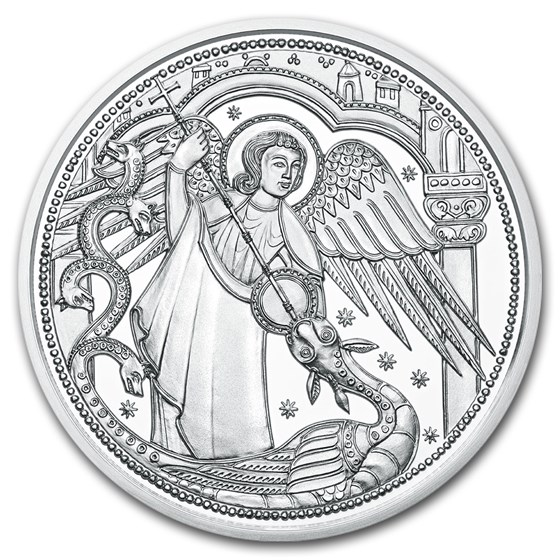 2017 Austria Silver €10 Guardian Angels BU (Michael)