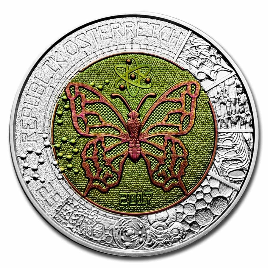 2017 Austria Silver/Niobium Microcosm €25 BU
