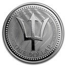 2017 Barbados 1 oz Silver Trident BU