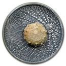 2017 Burkina Faso 1 oz Silver World of Evolution (Sea Urchin)