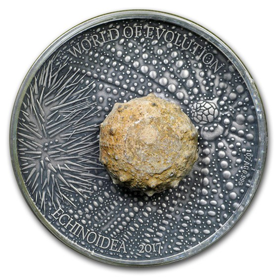 2017 Burkina Faso 1 oz Silver World of Evolution (Sea Urchin)