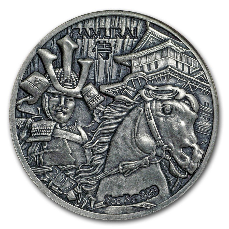 2017 Burkina Faso 2 oz Silver Legendary Warriors (Samurai)