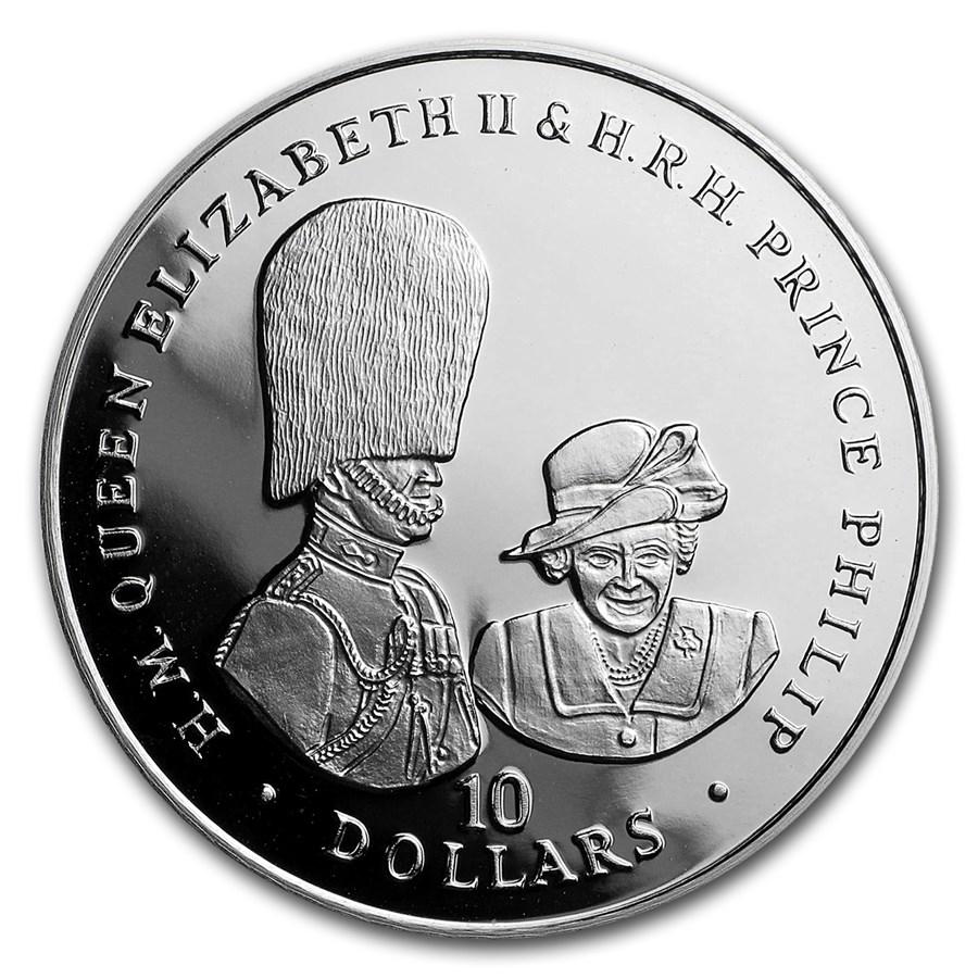 2017 BVI Silver £2 Royal Couple (Buckingham Palace)