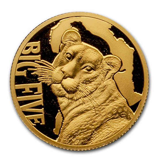 2017 Cameroon 1/10 oz Gold Leopard Proof (The Big Five)