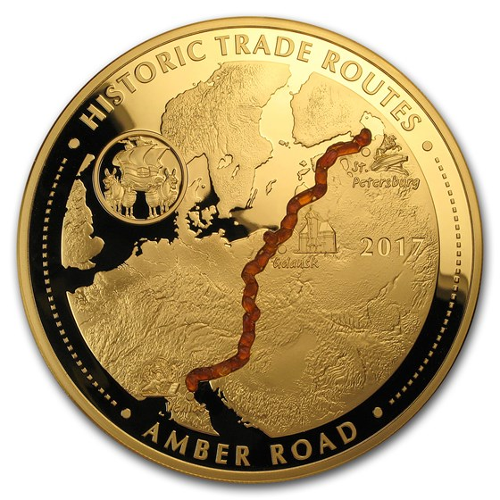 2017 Cameroon 5 oz Gold Proof Historic Trade Routes (Amber Road)