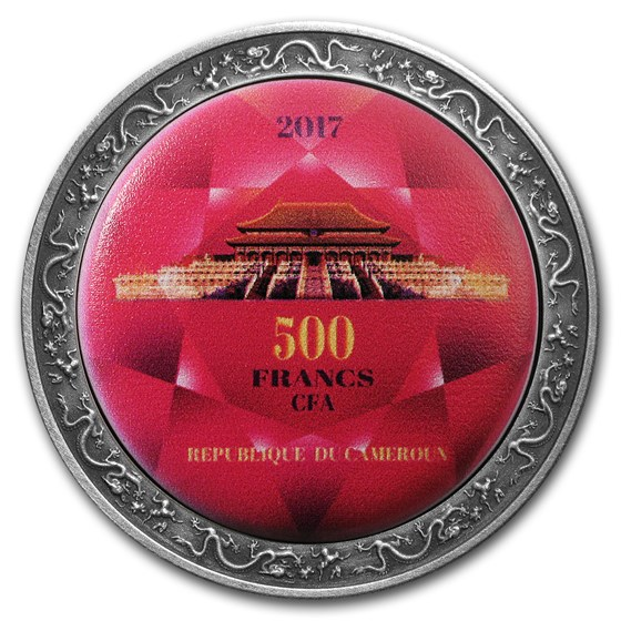 2017 Cameroon Silver Magnificent Palace of Beijing Forbidden City