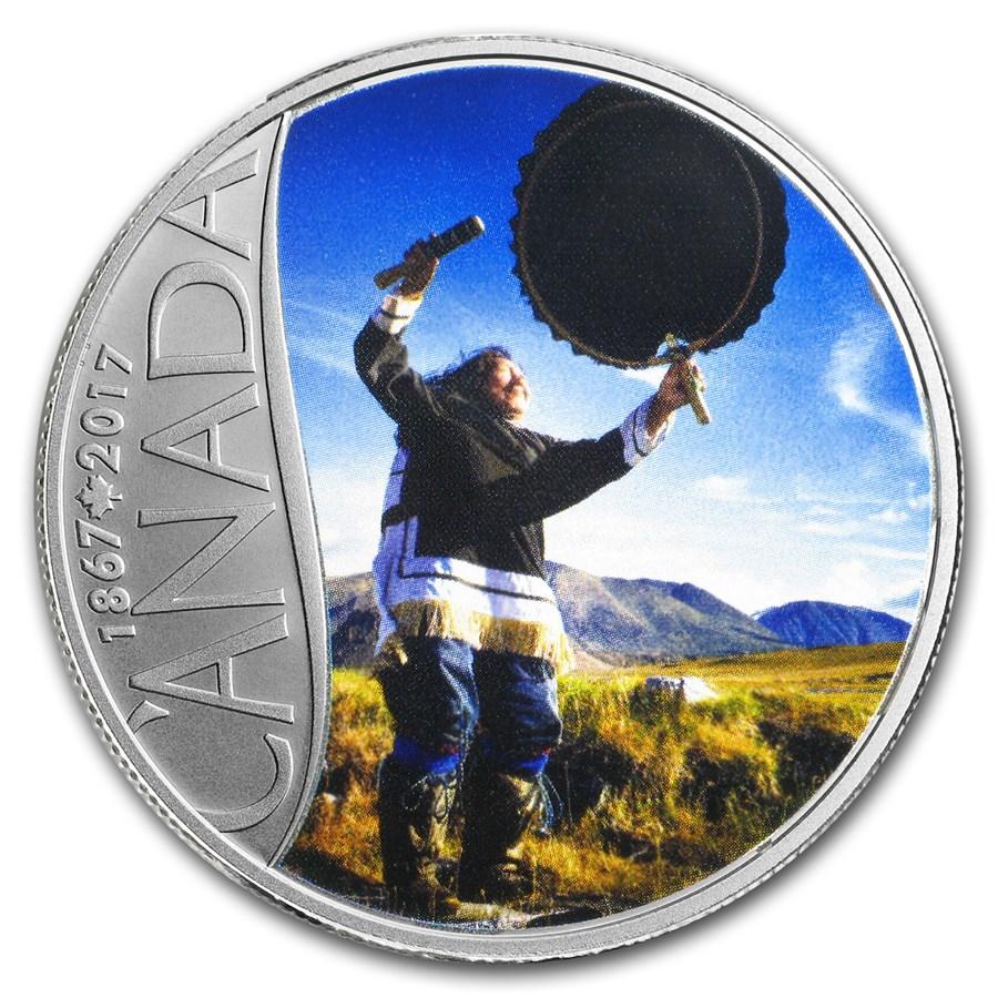 2017 Canada 1/2 oz $10 Celebrating Canada's 150th: Drum Dancing