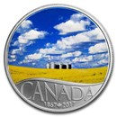 2017 Canada 1/2 oz Ag $10 Celebrating Canada's 150th Canola Field