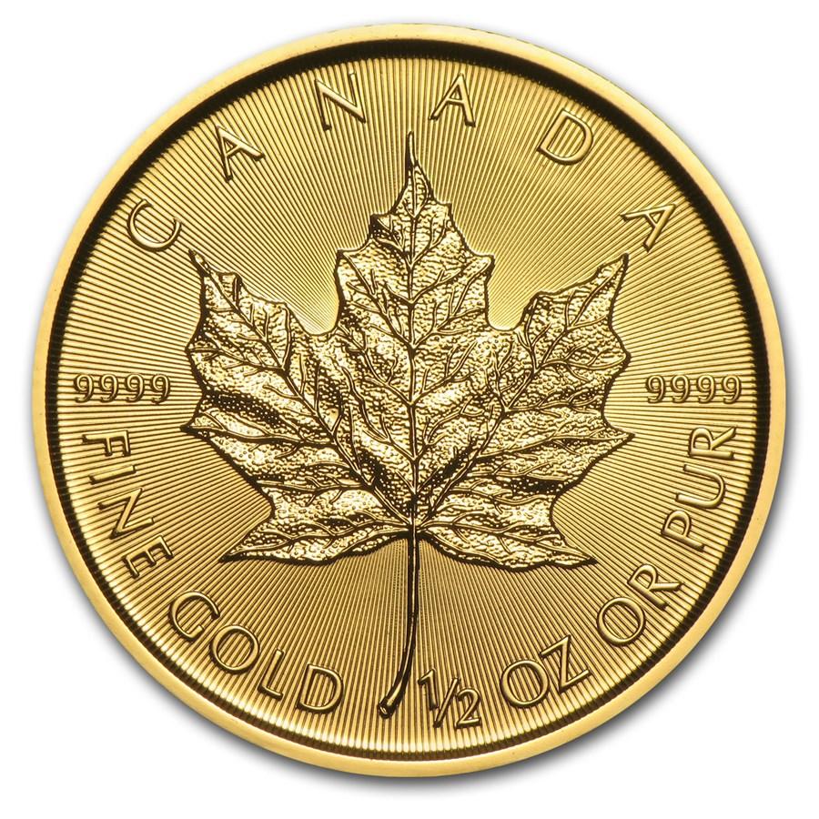 2017 Canada 1/2 oz Gold Maple Leaf BU