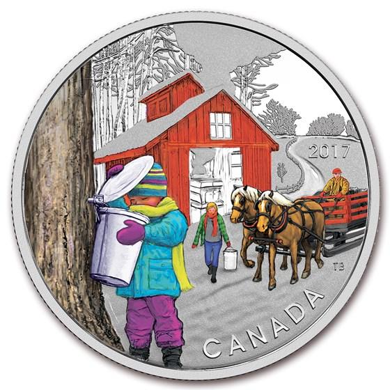 2017 Canada 1/2 oz Silver $10 The Sugar Shack Proof