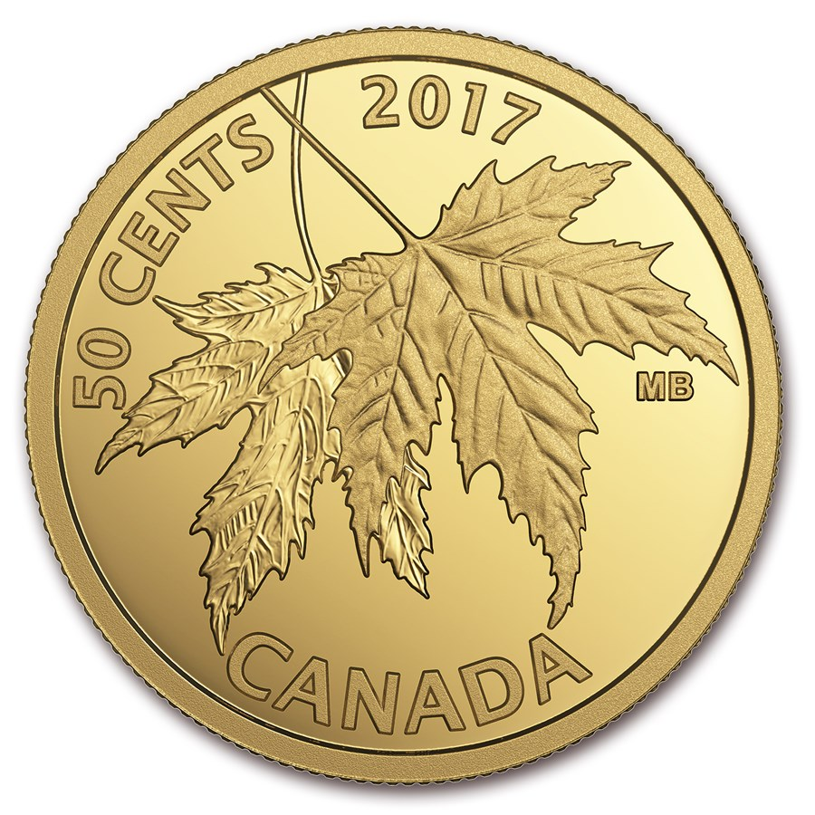 2017 Canada 1/25 oz Proof Gold Maple Leaf