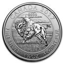 2017 Canada 1.25 oz Silver $8 Bison BU