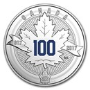 2017 Canada 1/4 oz Ag $3 100th Anniv of the Toronto Maple Leafs