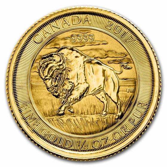 2017 Canada 1/4 oz Gold Buffalo BU