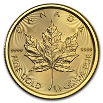 2017 Canada 1/4 oz Gold Maple Leaf BU