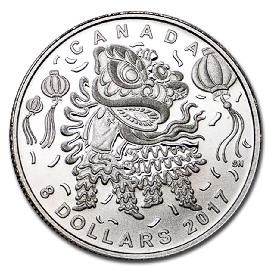 2017 Canada 1/4 oz Silver $8 Lion Dance