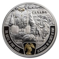 2017 Canada 1 oz Ag $20 Anniversary of the Battle of Vimy Ridge