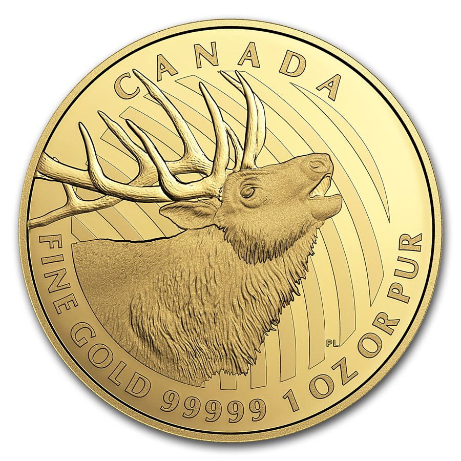 2017 Canada 1 oz Gold Elk .99999 Proof