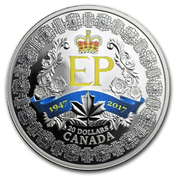 2017 Canada 1 oz Silver $20 A Platinum Celebration