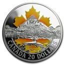 2017 Canada 1 oz Silver $20 Coast Series: Pacific Coast
