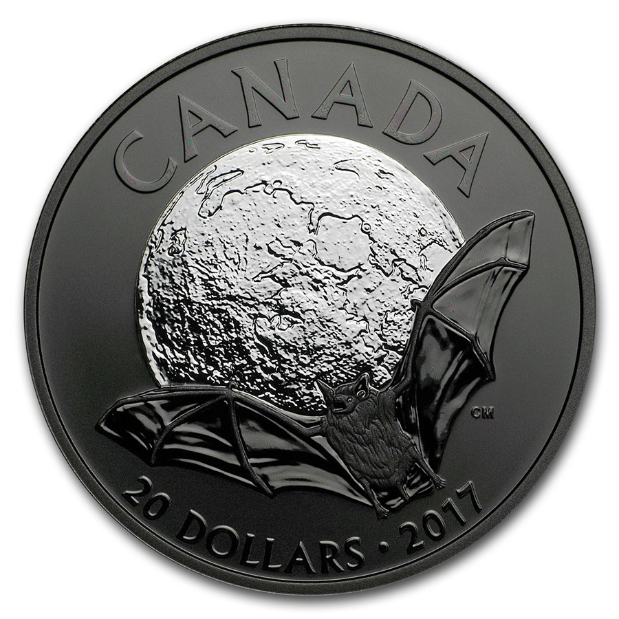 2017 Canada 1 oz Silver $20 Nocturnal By Nature: The Brown Bat