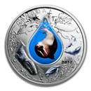 2017 Canada 1 oz Silver $20 Underwater Life (3D Water Droplet)